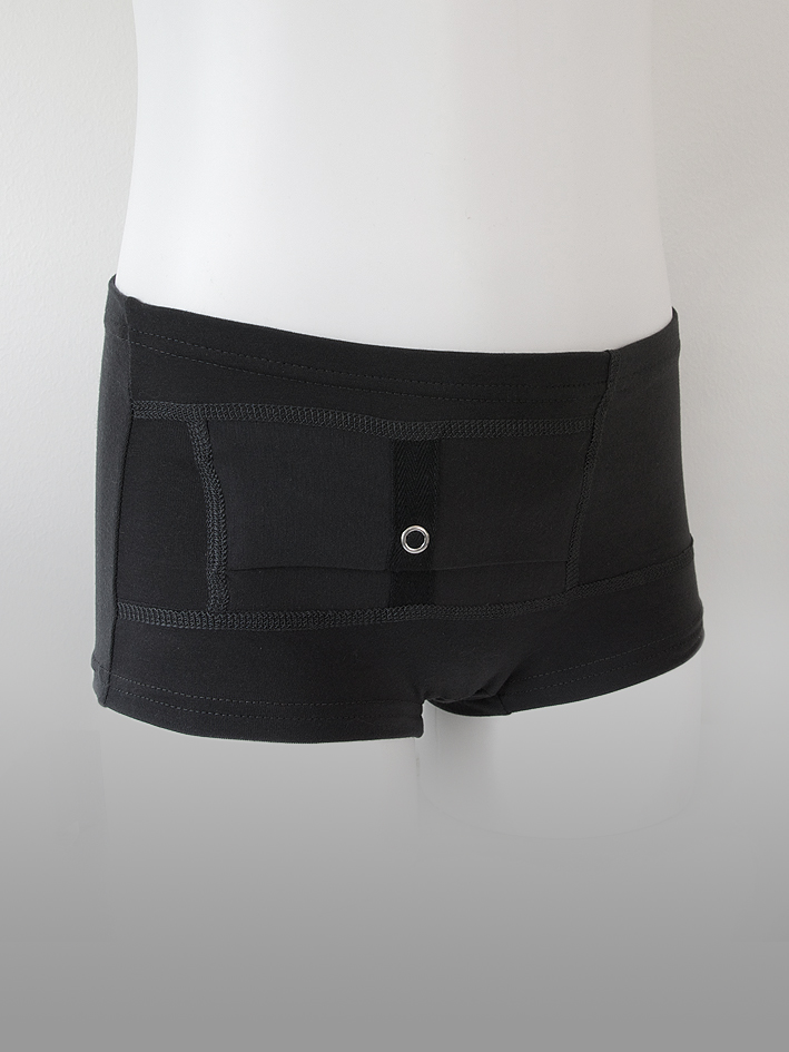 Kids Unisex Briefs Black