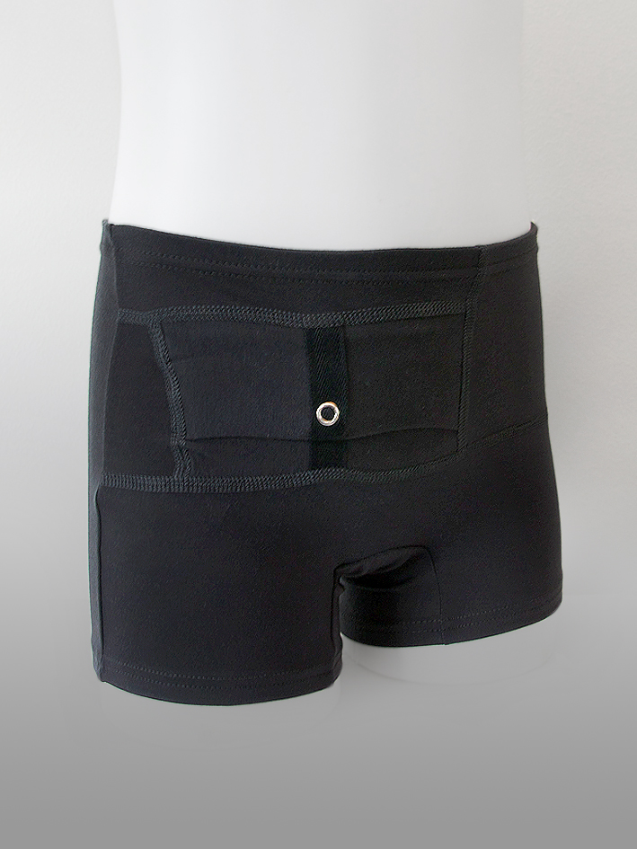Kids Unisex Shorts Black