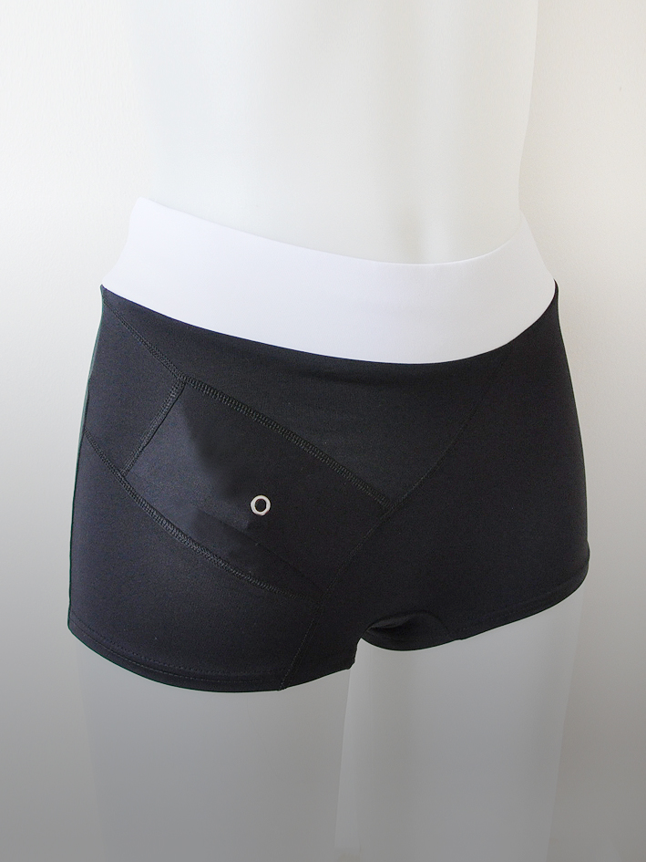 Swim Boxer Black/White