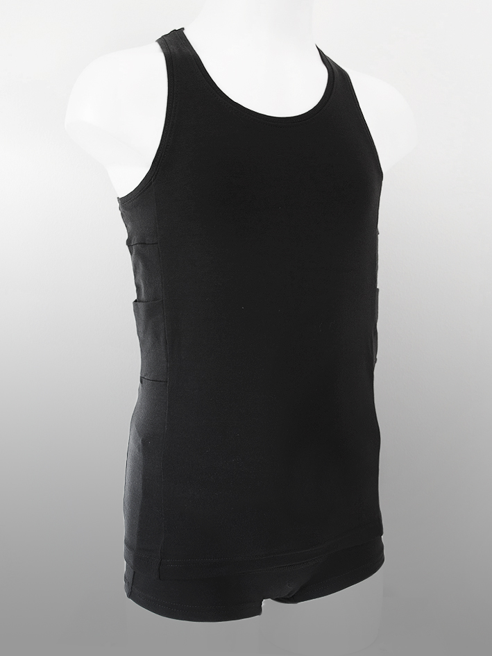 Kinder Tank Top Schwarz