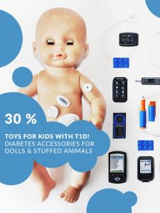 Diabetes toys for a doll that make diabetes easier for kids