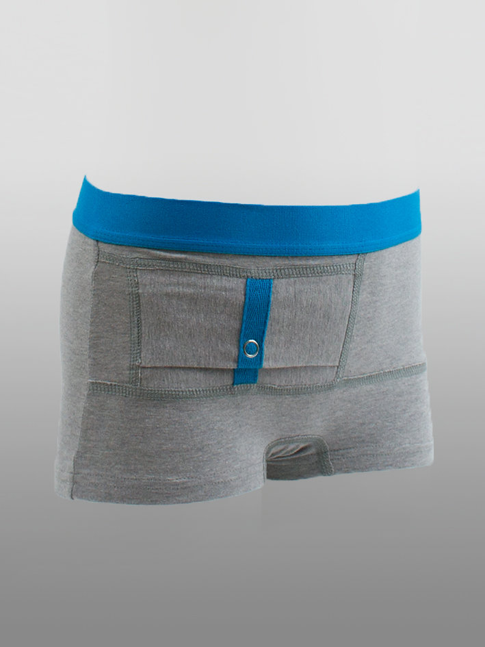 Kids Unisex Shorts Grey