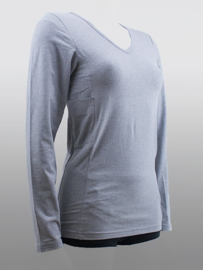 Women Long Sleeve Top Grey