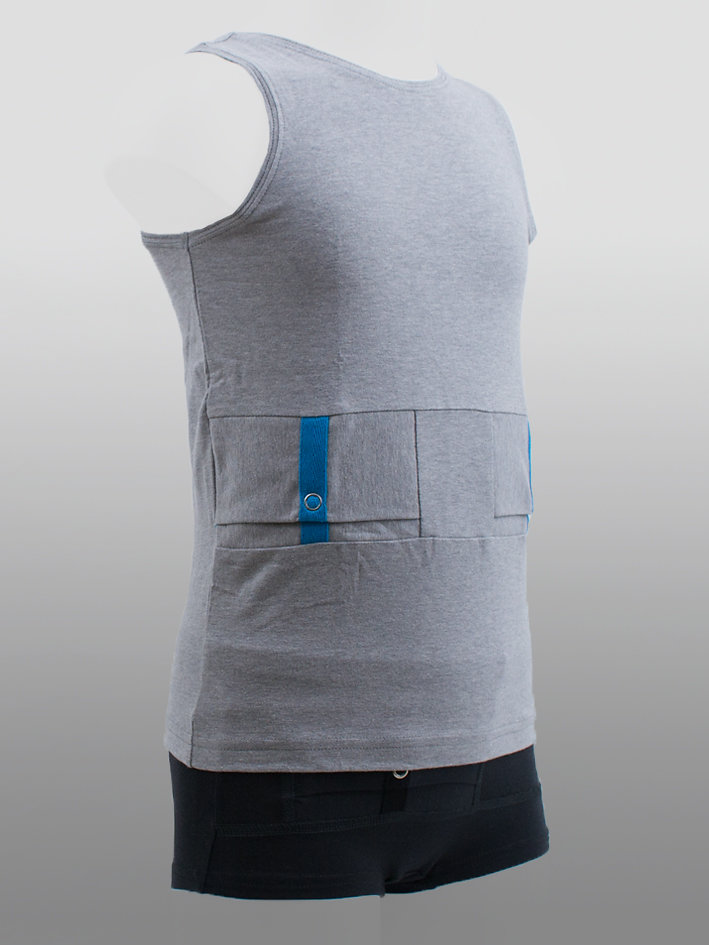 Tank Top Reversible Grey