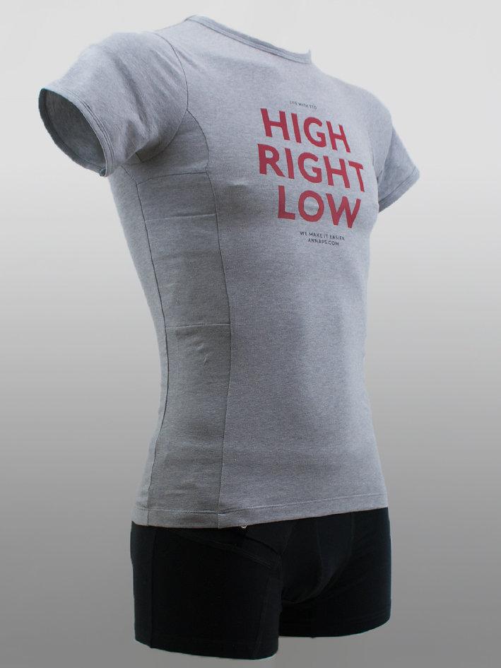 Men T-shirt Hi-Lo Grey