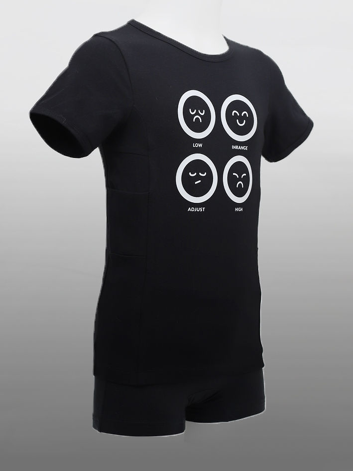 Barn T-shirt T1D Faces Svart