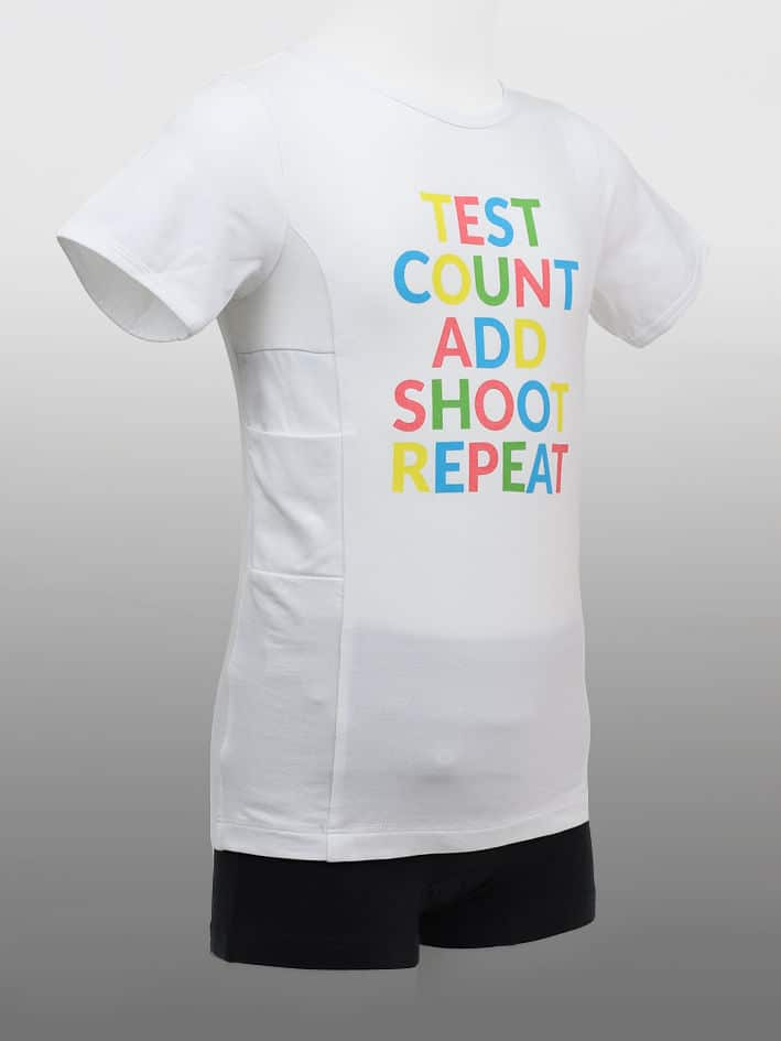 Barn T-shirt TestCount Vit