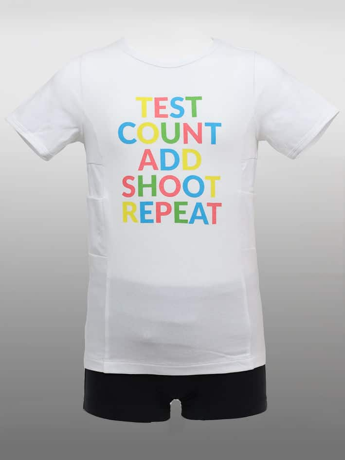 Barn T-shirt TestCount Vit