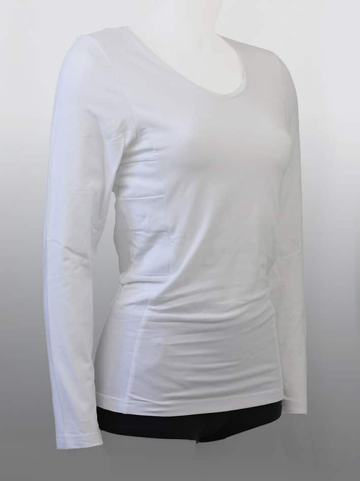 Kids Long Sleeve Top White